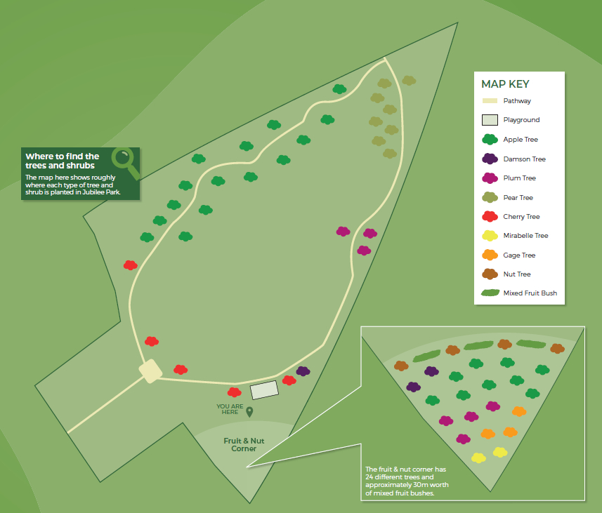 Jubilee Park Orchard Map